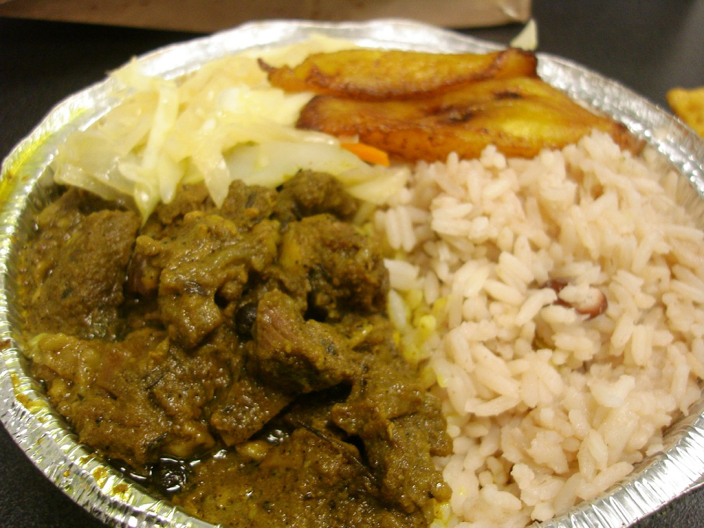 Chicken Curry With Peas Curry Goat w/ Rice Peas