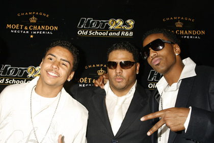 Quincy Brown, Al B. Sure and and Lil B. Sure attend Al B. Sure's
